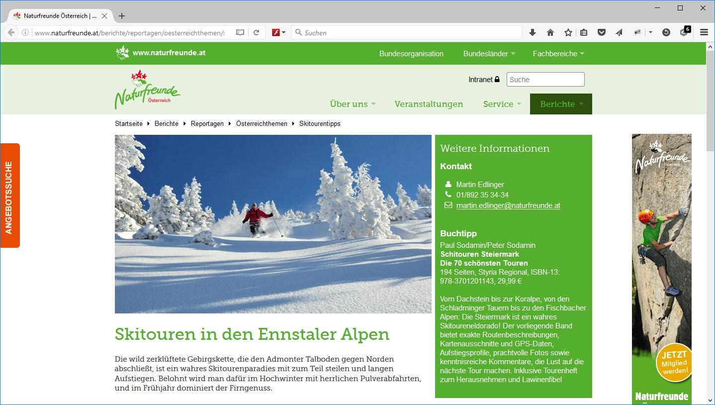 Naturfreunde Webseite