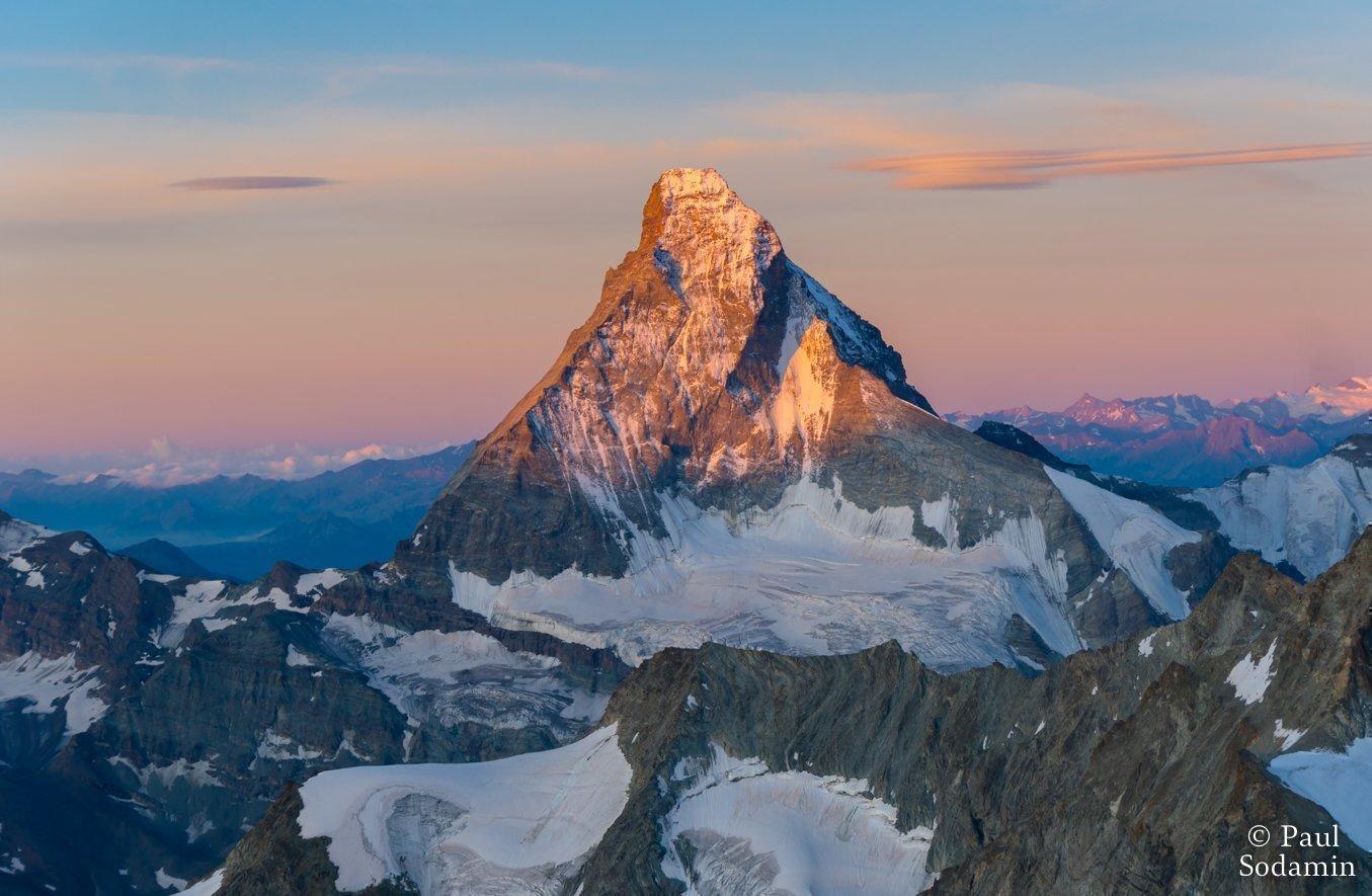 Zinalrothorn 4221 m und Matterhorn 4478 m am 1. u. 3.August 2019
