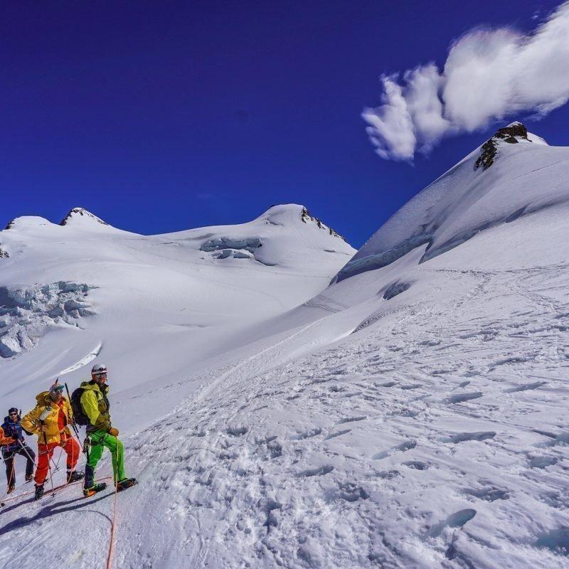 Monte Rosa Süd: 2x 4000er  Parade aus dem Aostatal Tag2