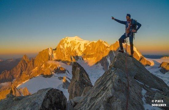 Aiguilles de Rochefort 4001 m und Dent du Geant 4013m