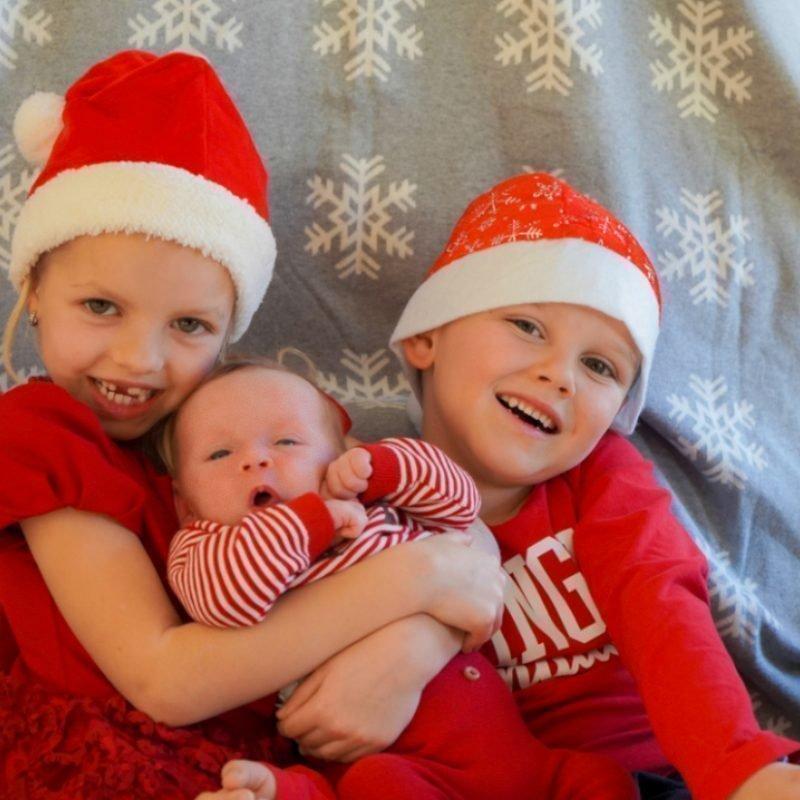 Meine Enkelkinder  Elena, Valentin und Constantin  4 Wochen alt