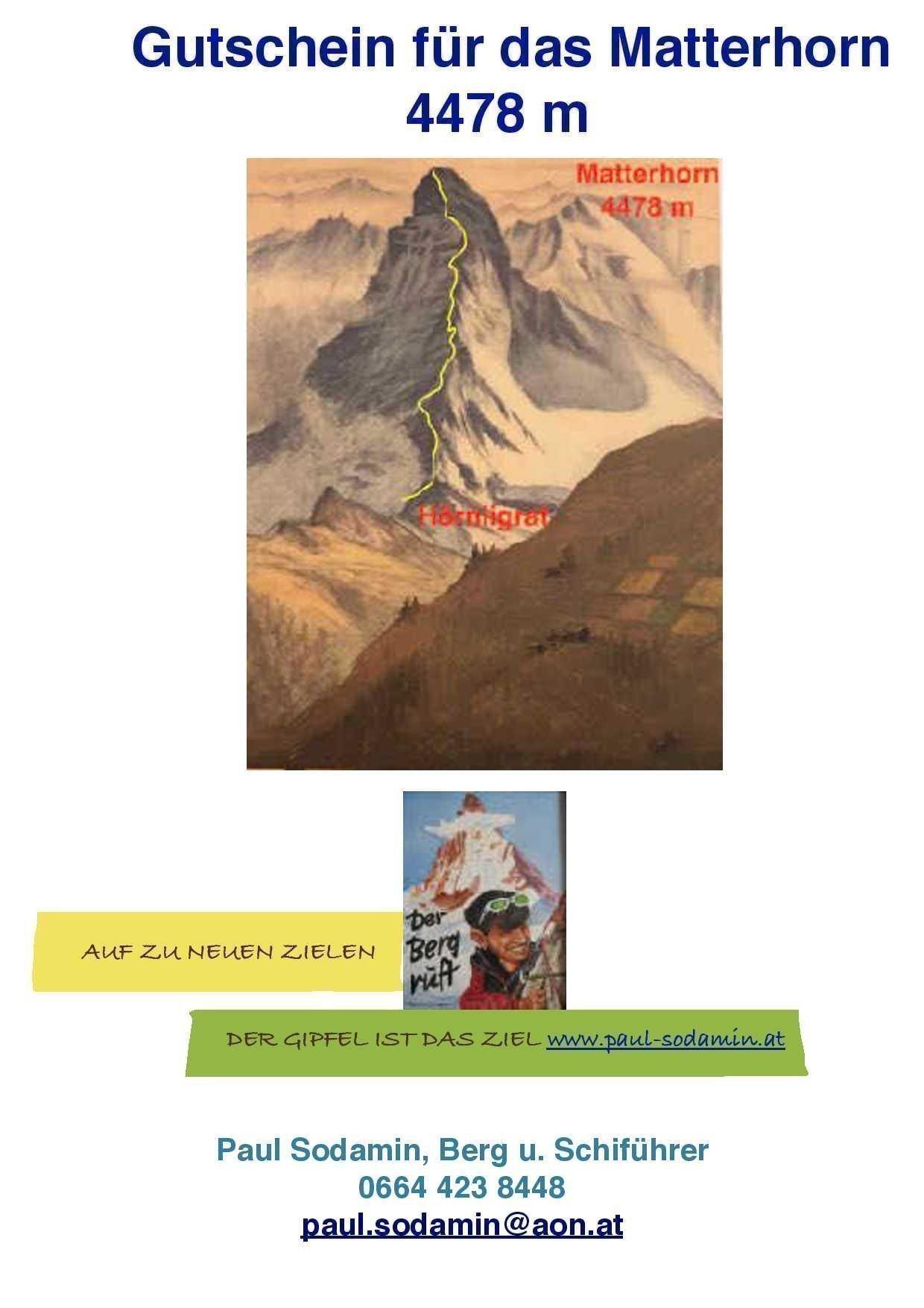 Gutschein Matterhorn
