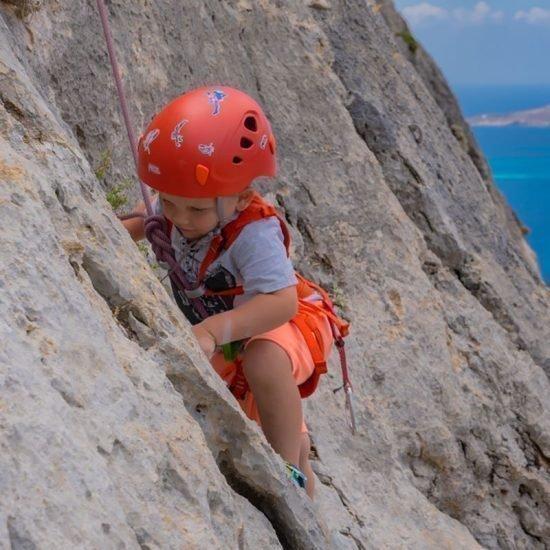 Klettern Valentin 3 Jahre