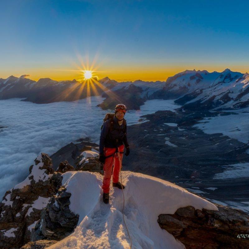 Matterhorn 4478m über den  Hörnligrat