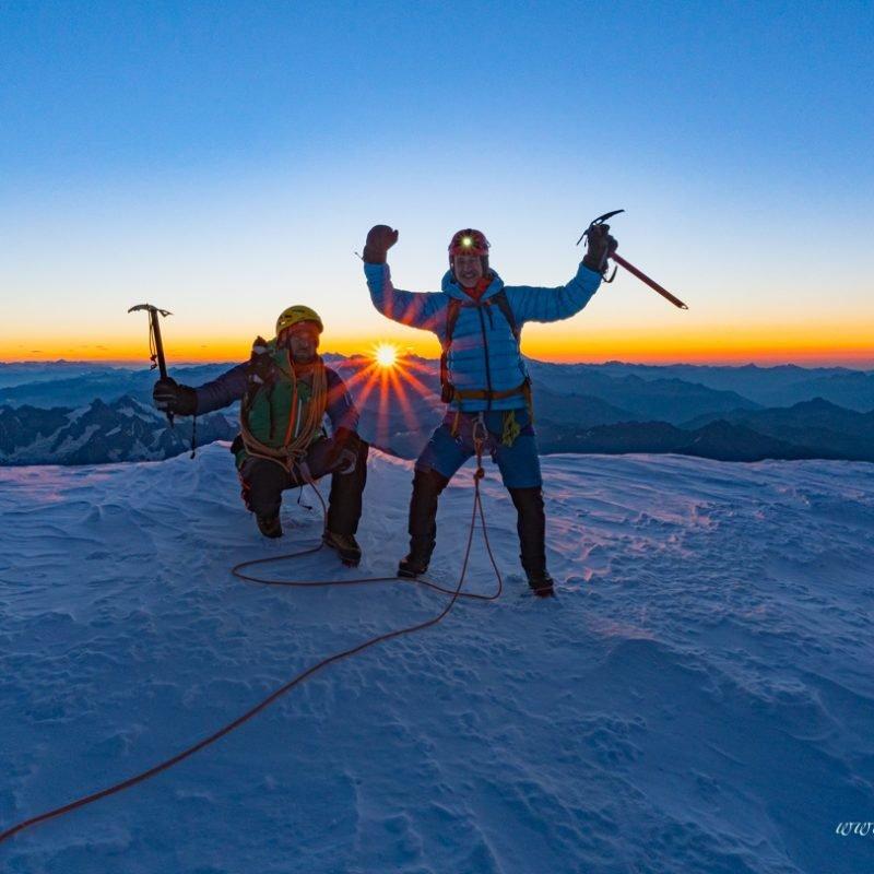Auf den höchsten Berg der Alpen: Über den Normalweg auf den Mont Blanc 4810m