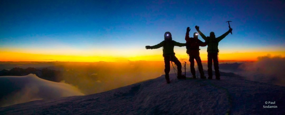 Mt.Blanc 4810 m,  zum höchsten Berg der Alpen über den Normalweg