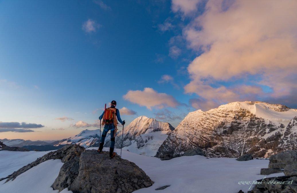 Ortler Hintergrat mit Bergführer Paul Sodamin