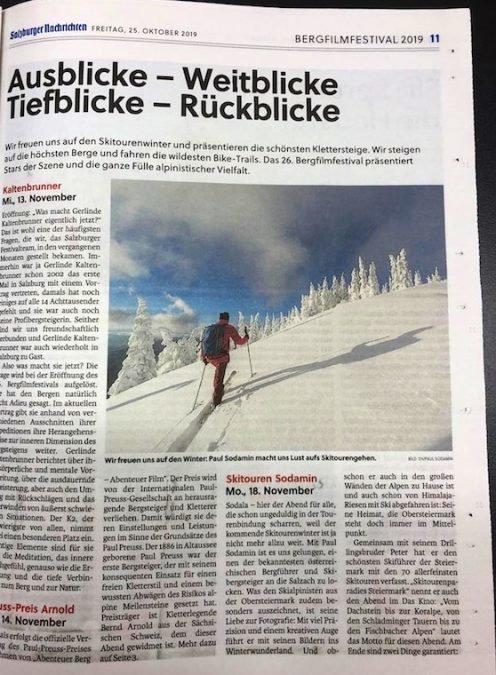 Vortrag beim Bergfilmfestival 2019 in Salzburg