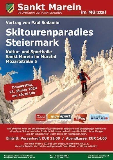 23.01.2020 – Vortrag Schitourenparadies Steiermark -St.Marain