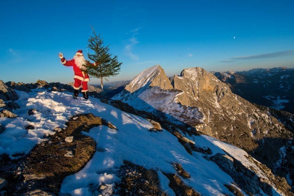 Der Weihnachtsmann am Admonter Kalbling